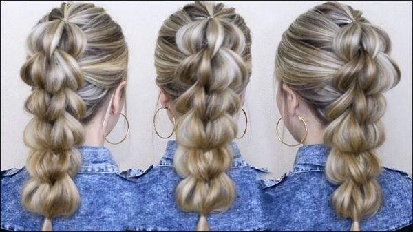 Объемная коса из резинок