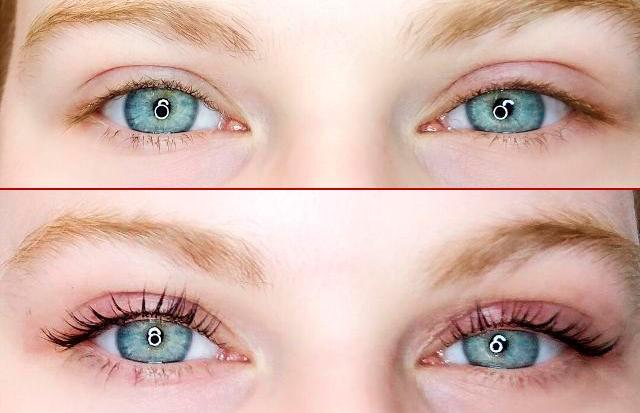 окрашивание ресниц краской фото до и после