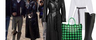 Плащ Nanushka, платье Karl Lagerfeld, сумка Bottega Veneta, cапоги Pollini (noone.ru) фото № 2