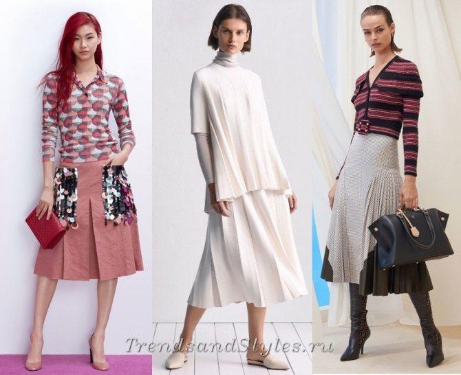 плиссировака - осень зима 2018 2019 модные тенденции фото