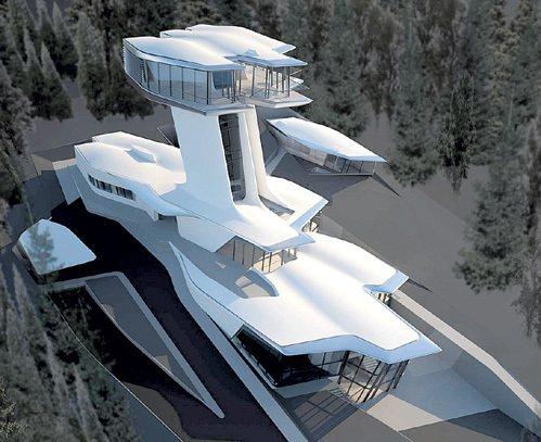 По слухам, эта вилла должна была стать любовным гнёздышком супермодели и миллиардера. Фото:zaha-hadid.com