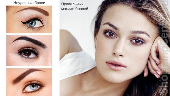 Правильный макияж бровей с примерами