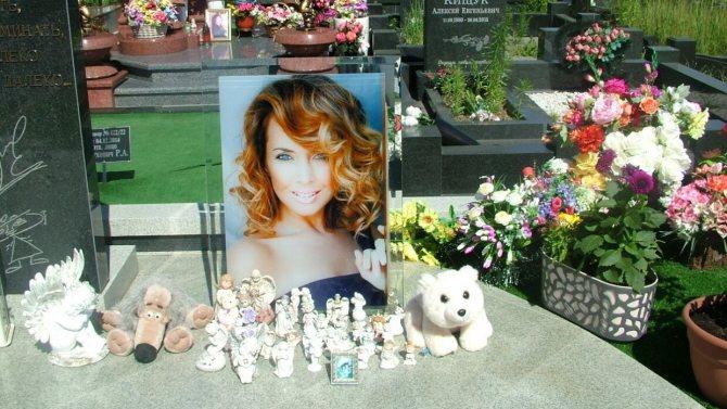 Пришедшим помянуть Фриске на кладбище в Балашихе раздавали ее любимые конфеты