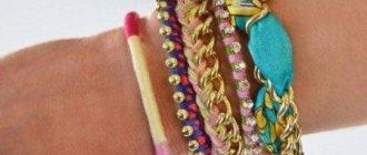 Простые и красивые браслеты своими руками