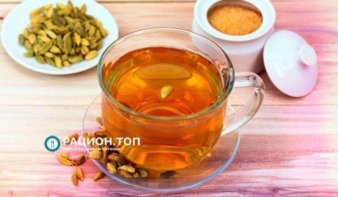 Рацион.ТОП - Холодный лимонный чай с кардамоном