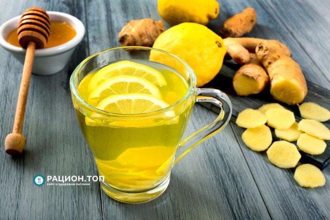 Рацион.ТОП - Лимонный сок с мёдом и имбирём