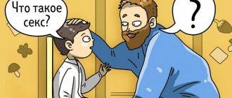 Ребенок спрашивает отца о сексе