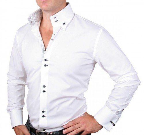 С чем сочетать белую рубашку мужчине?