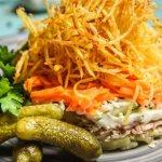 Салат с картошкой пай: рецепт приготовления