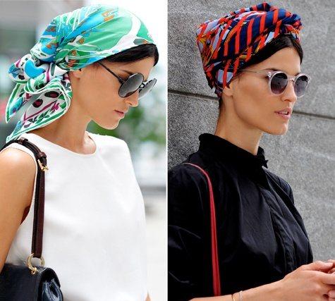 Стильные варианты завязывания шарфов