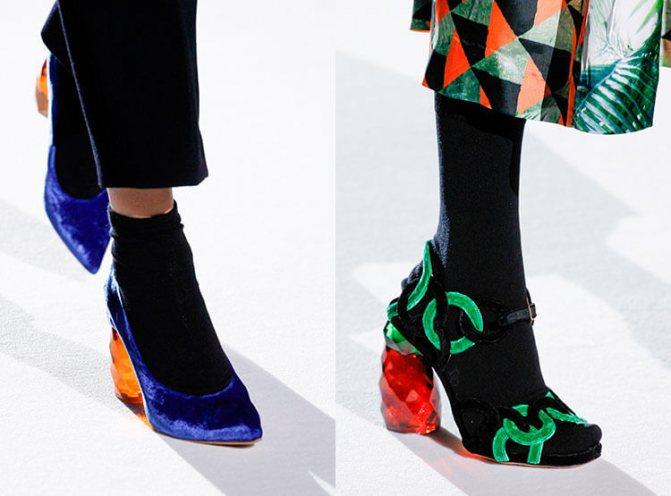Туфли и теплые носки 2017-2018 Dries-Van-Noten