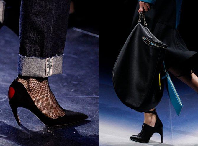 Туфли на шпильке осень-зима 2017-2018: Christian Dior, Versace