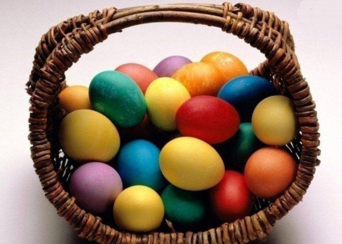 Украшение яиц на Пасху.