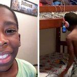 В сеть попало фото мальчика, записывающего треки на подвешенный телефон. Его заметили и подарили целую студию!