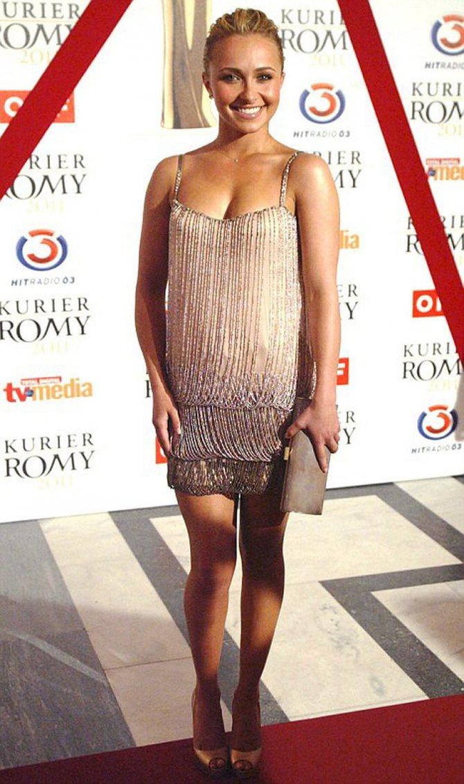В Вене на церемонии вручения телевизионных премий Romy Awards Хайден затмила всех. Фото: Daily Mail.