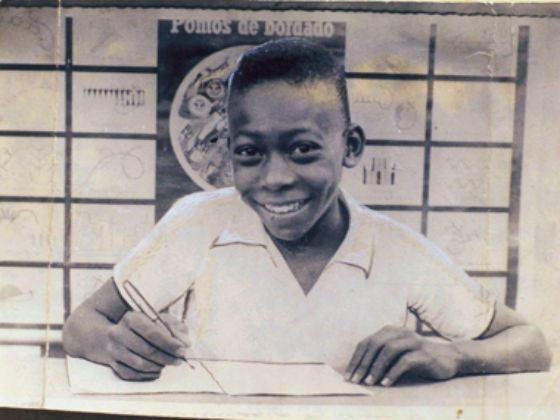 Великий футболист Пеле в детстве