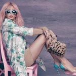 Вера Брежнева розовые волосы фото