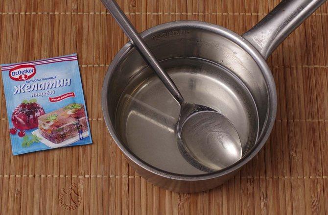 Желатин растворить на водяной бане