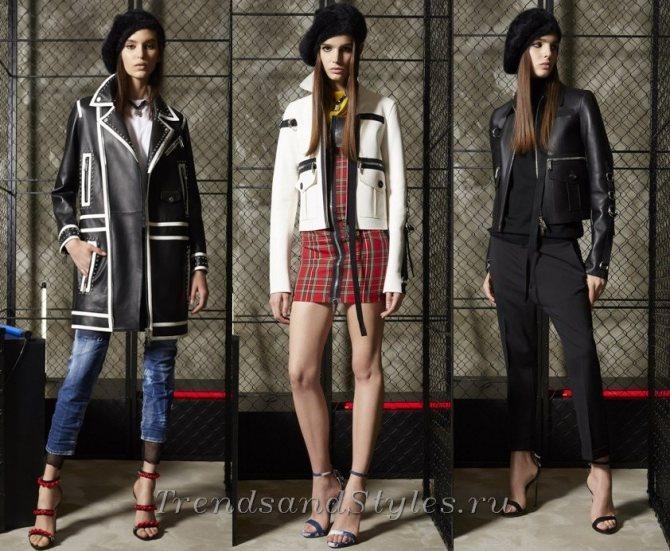 женские кожаные куртки весна 2019 фото новинки модные образы тренды