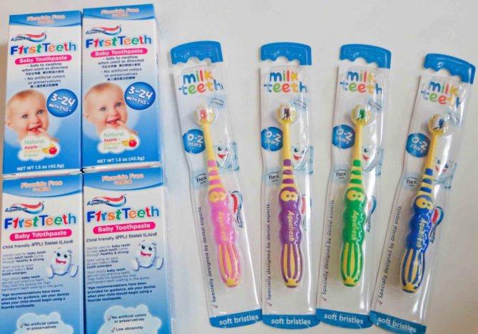 Зубные щетки и пасты
